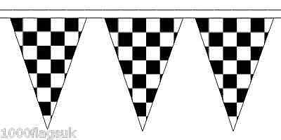 Check Bianco E Nero Tradizionale 20m 50 Poliestere Flag Triangolo Bandiera Bunting-mostra Il Titolo Originale Vendita Calda Di Prodotti