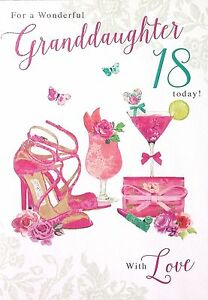 Image Is Loading For A Wonderful Granddaughter 18 Today With Love