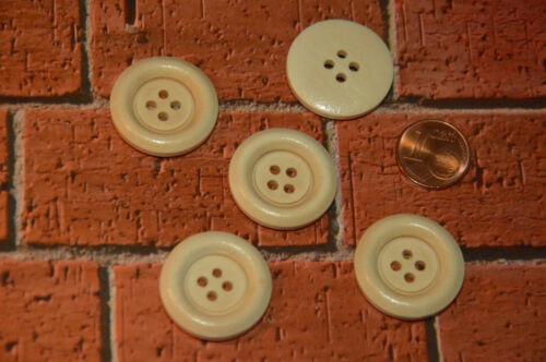 Bonitos Eyecatcher madera botón botones 2,3cm 5 trozo de nuevo marrón claro
