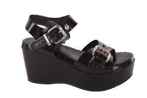 Diesel-Women-039-s-Sandals-Platform-attraction-Black-131