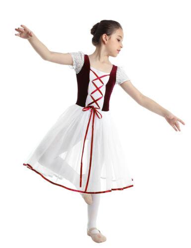 Mädchen Cosplay Ballett Kleider Kinder Märchen Prinzessin Tanzkleid Ballettanzug