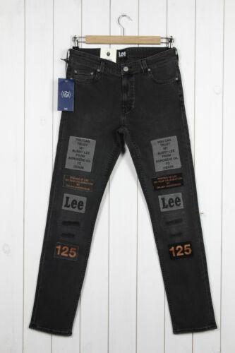 NEW LEE x ORJAN A SLIM//Skinny JEANS Grey//Black Ripped LUKE 101 L32//L34 ALL SIZE