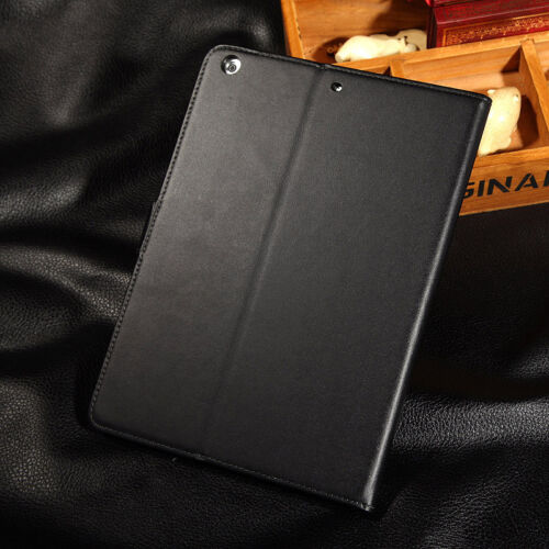 Genuine Luxury Real Leather Card Flip Smart Case Cover For Apple iPad 5 iPad Air