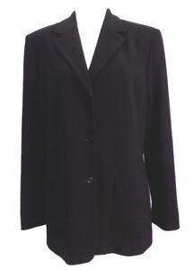 Claiborne Size Carriera Black 12 Wool elegante 100 Liz Womens Blazer formale BUq1Wpw