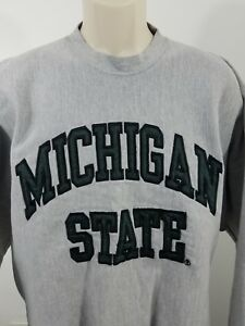 Michigan-State-Pullover-Sweater-Grey-Size-Large-1845