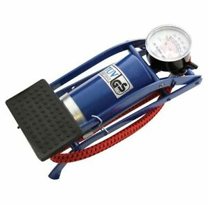 SINGLE-BARREL-CYLINDER-FOOT-PUMP-AIR-INFLATOR-CAR-VAN-BICYLCE-BIKE-TYRE