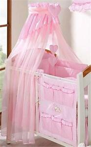 Image is loading LUXURY-BABY-CANOPY-DRAPE-HOLDER-FOR-COT-COT- & LUXURY BABY CANOPY / DRAPE + HOLDER FOR COT/ COT BED PINK | eBay
