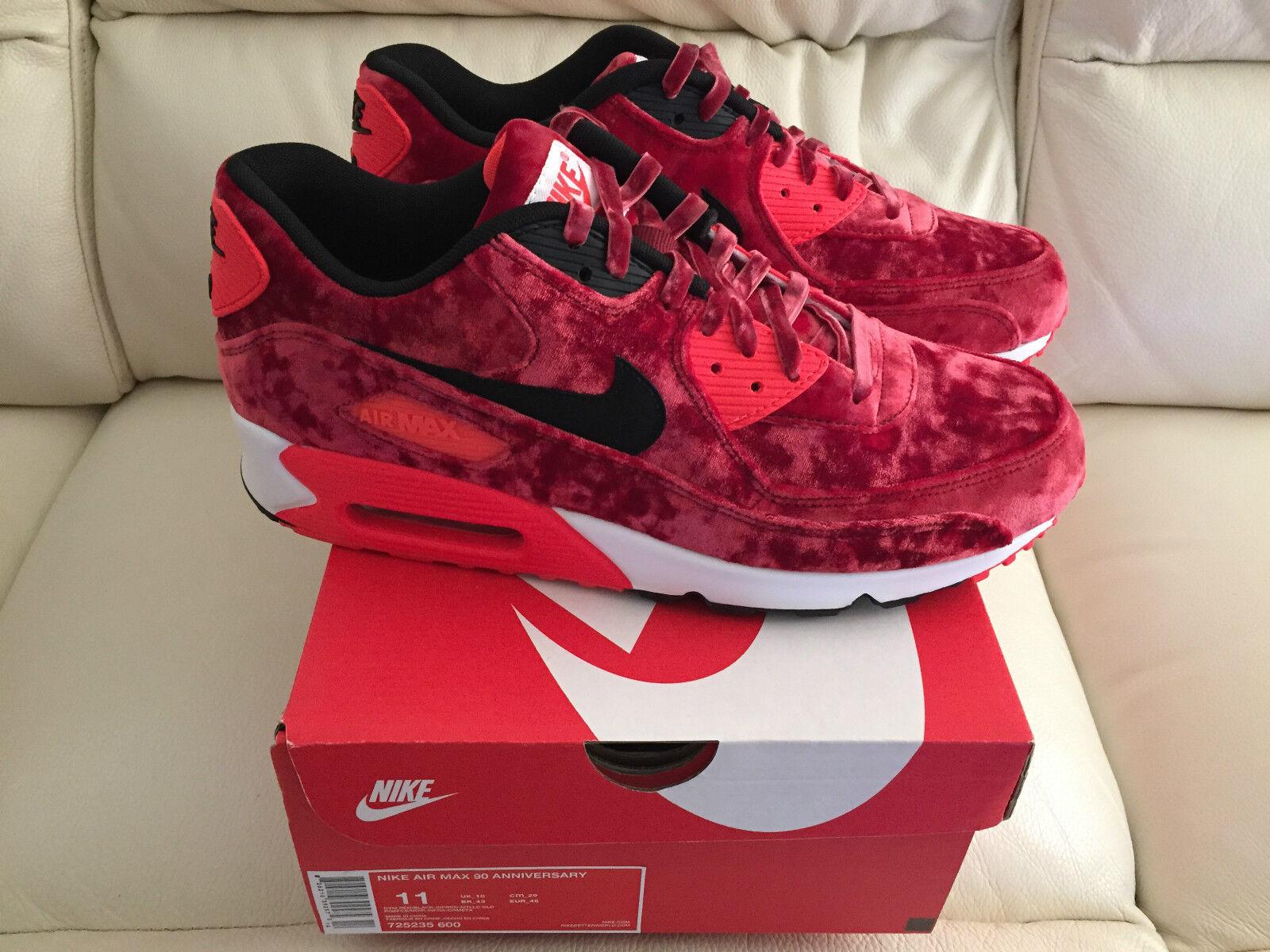 Nike Air Max 90 Red Velvet Zapatillas Zapatos Tenis Todas las Tallas Nuevo