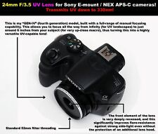 24mm F/3.5 UV lens for Sony E-Mount/NEX APS-C cameras! Ultraviolet photography!
