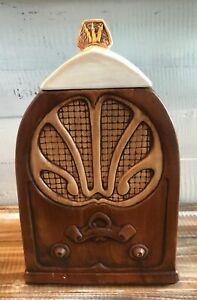 Antique-Radio-Treasure-Craft-Cookie-Jar