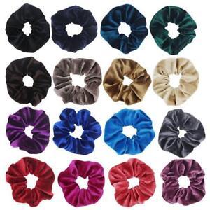 Women-Velvet-Scrunchies-Ponytail-Holder-Hair-Accessories-Lot-Elastic-Hair-Band