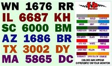 BOAT REGISTRATION NUMBER DECALS extra fat letters - FREE SHIPPING - Fast Service