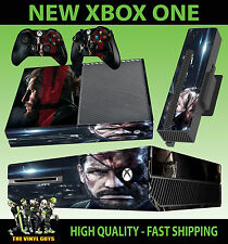 XBOX ONE CONSOLE STICKER METAL GEAR SOLID V SOLID SNAKE PHANTOM SKIN + PAD SKINS