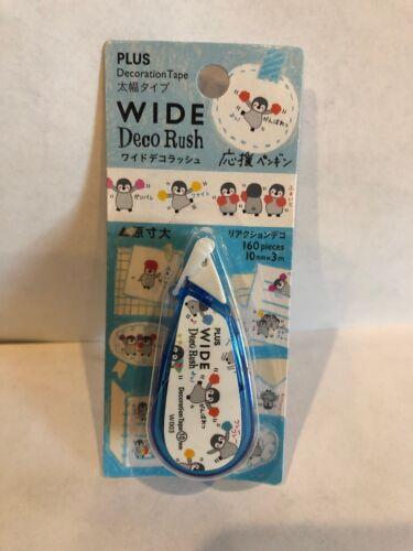 PLUS Wide Deco Rush Crafting PENGUINS Scrapbooking Decono Decoration Tape