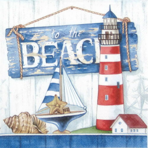 To the Beach 4x Paper Napkins Decoupage Craft for Party