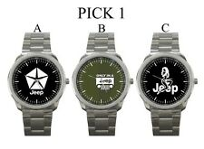 JEEP Only In A Jeep Car Automobile Off Road Sport Metal Watch #PICK 1
