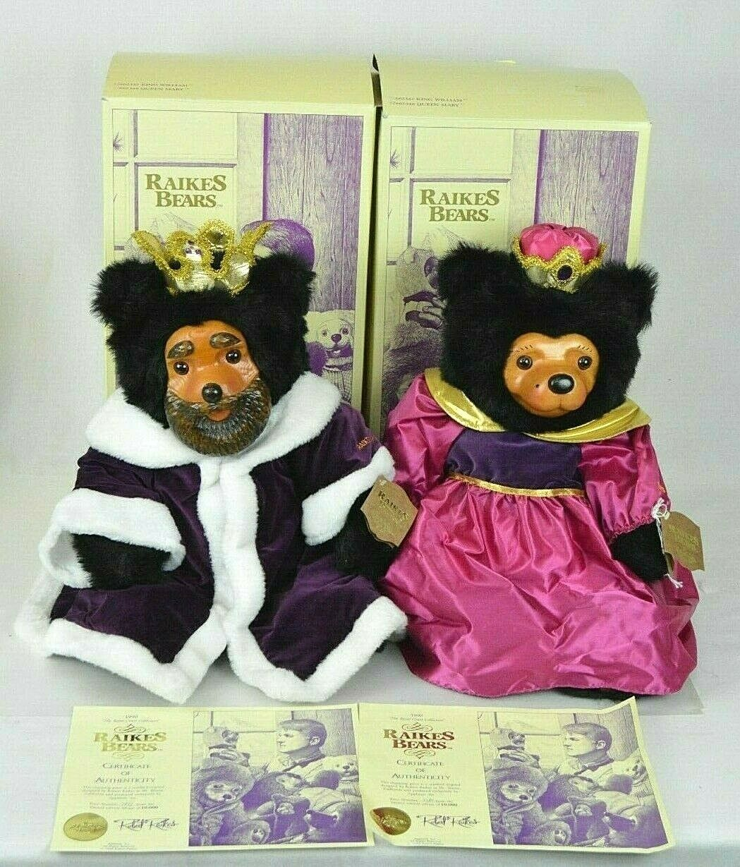 Robert Raikes Bears King William & Queen Mary Royal Court Collection NWT Box