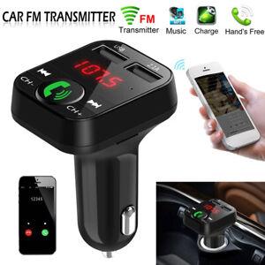 Wireless-Bluetooth-Car-FM-Transmitter-MP3-Player-2-USB-Charger-Handsfree-Kit-CA