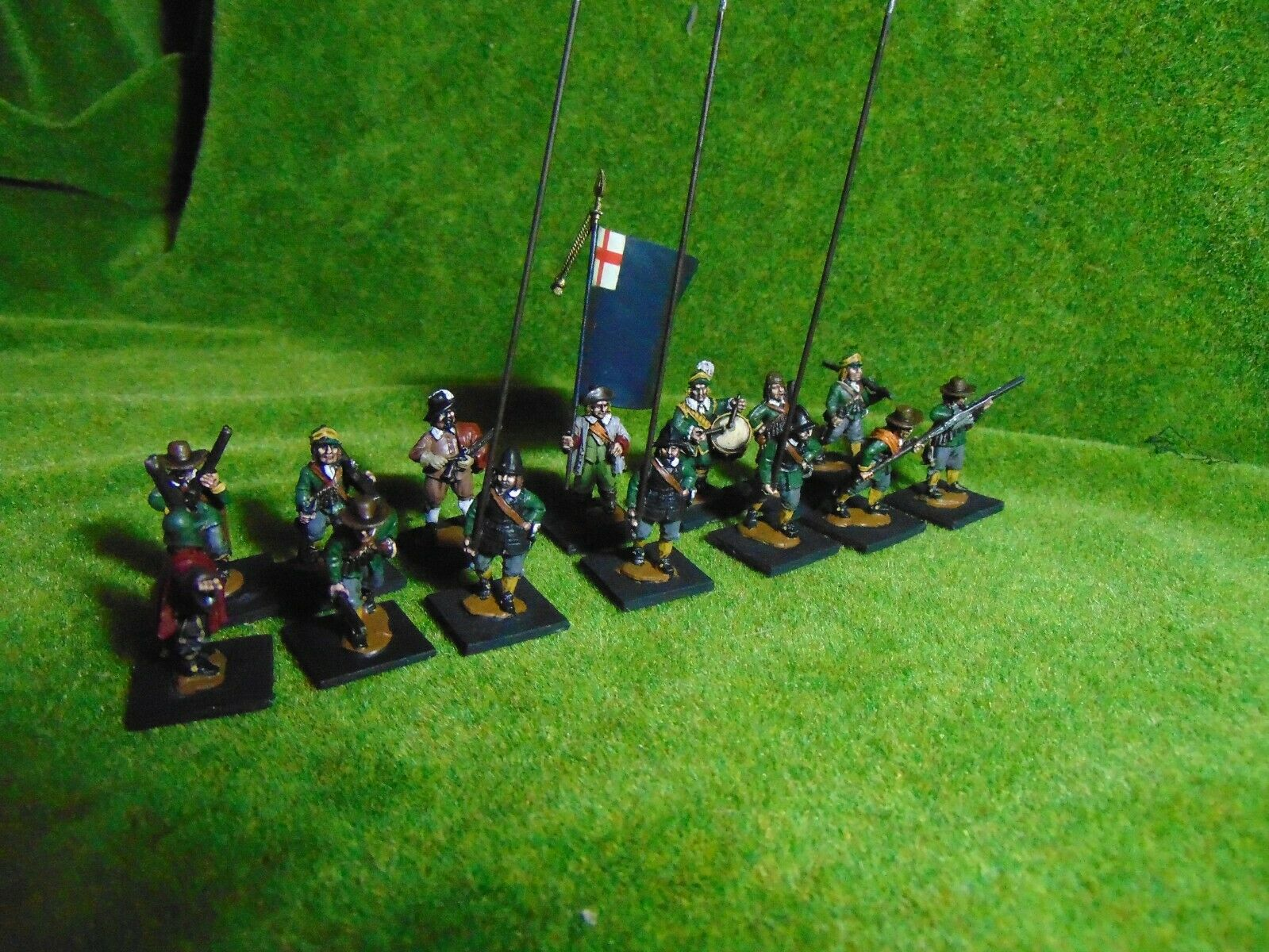 28mm Foundry Perry ECW TYW TYW TYW Regiment painted by Malplaquet Miniatures 14 figures f40985