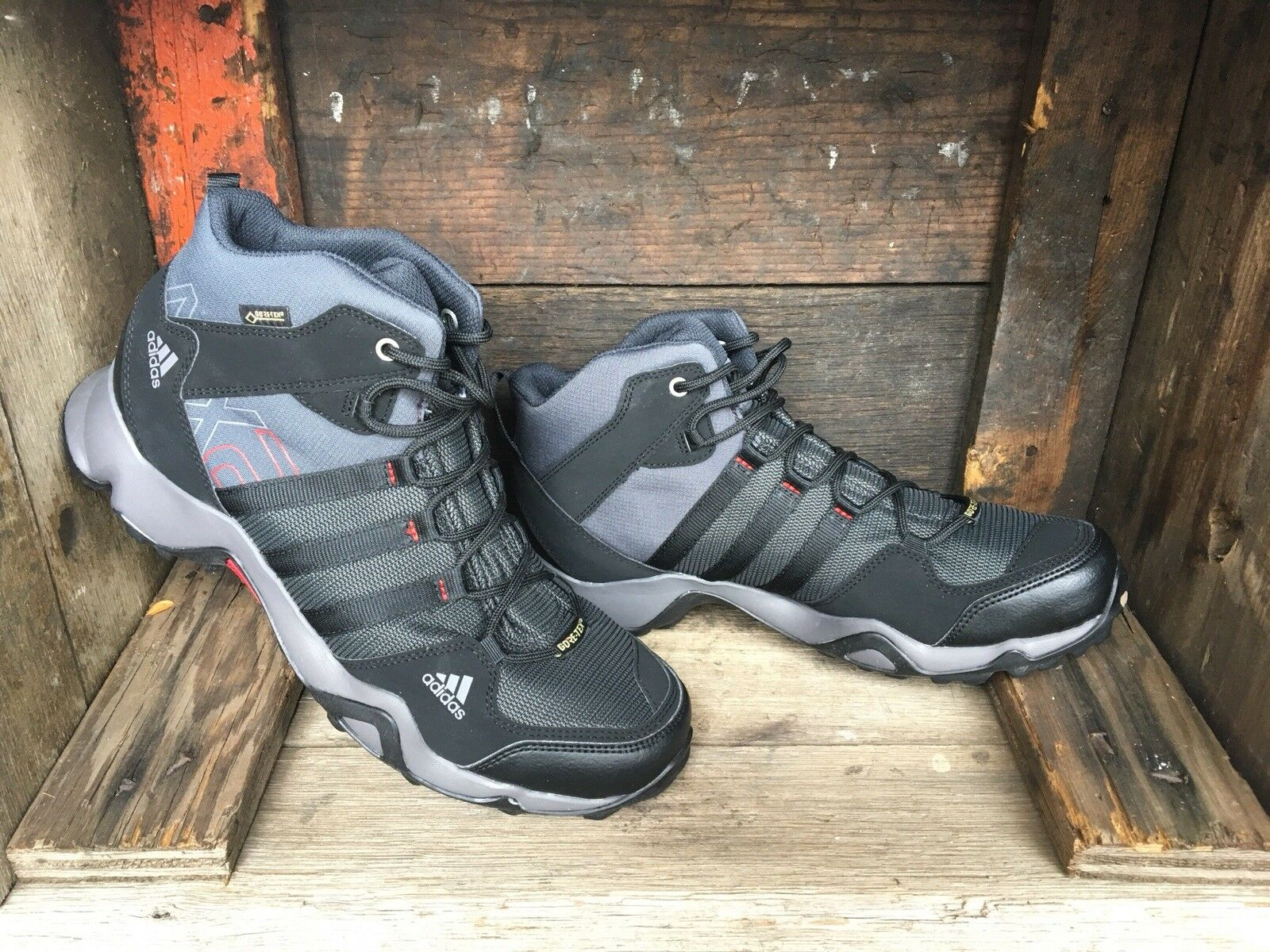 Adidas Outdoor AX2 Mid GORE-TEX Hiking Boots Men Black US 8.5