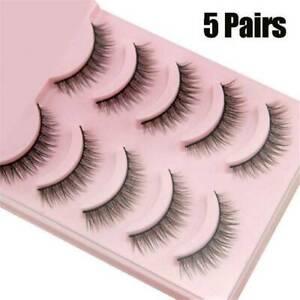 TOP-3D-Mink-Natural-Short-False-Fake-Eyelashes-Handmade-Eye-Lashes-5Pairs