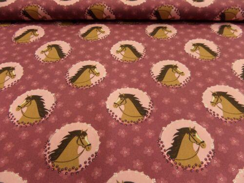 "Hilco Kinderstoff /""Horse/"" 150 cm br Muster je 50 cm BW Verschiedene"