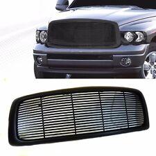 02 03 04 05 Dodge Ram 1500 2500 3500 Billet Style Front Black Bumper Hood Grille