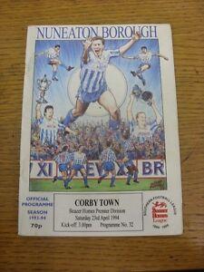 23-04-1994-Nuneaton-Borough-v-Corby-Town-Light-Crease-Footy-Progs-Bobfrankan