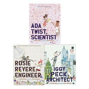 Andrea-Beaty-Collection-3-Books-Set-Pack-NEW-Ada-Twist-Scientist-Rosie-Revere-UK
