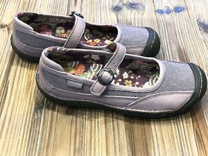 KEEN-Putple-Canvas-Mary-Jane-Strap-Buckle-Shoe-Women-s-Sz-US-7-EU-37-5