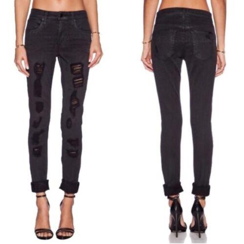 Joe's Jeans Boyfriend Slim Fit Black Ripped Skinny