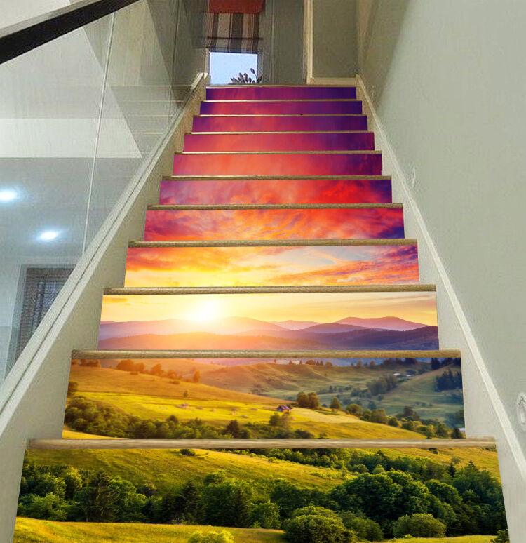 3D Sonnenschein 45 Stair Risers Dekoration Fototapete Vinyl Aufkleber Tapete DE
