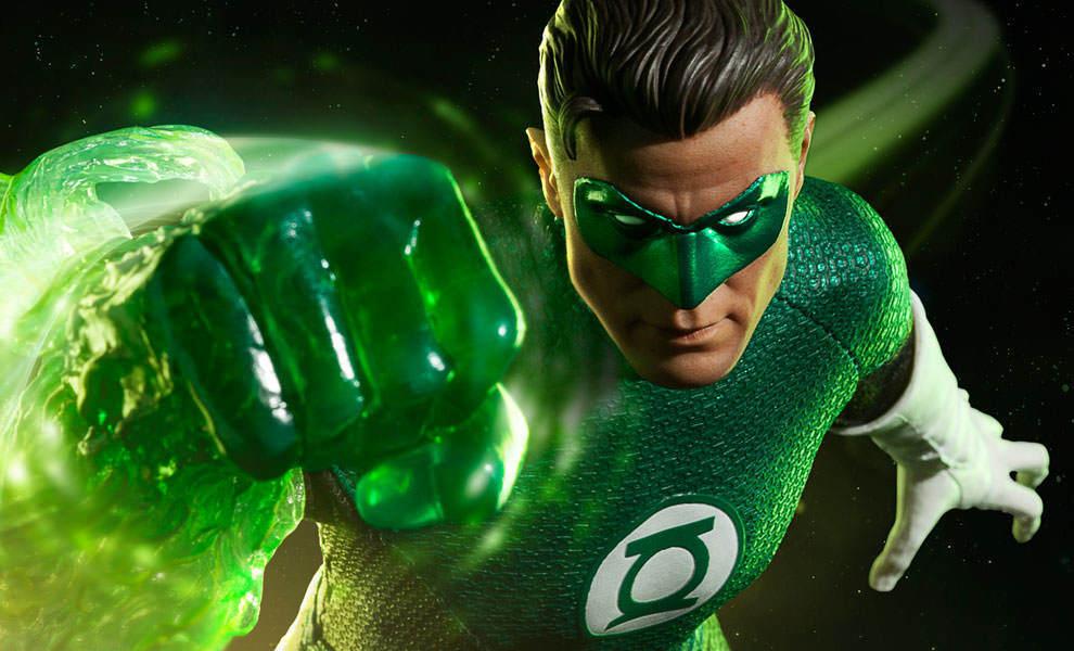 Linterna verde Hal Jordan  Sexta Escala Figura  Dc Comics Sideshow  MIB