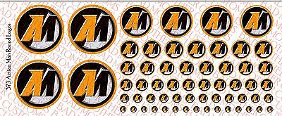 Marvel Character logos Decals Waterslide Decals Various Sizes
