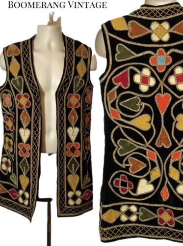 VTG 60s Hippie Velvet Embroidered  Men's Woman's A