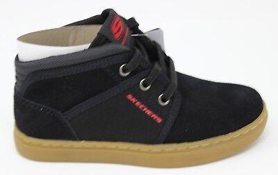 Boy/'s Skechers Integro Street Clique Black 93717L//BLK Memory Foam Brand New