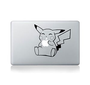 White - Window Sticker for Car Truck Laptop Macbook Pikachu waiving Sticker Ipad Auto 5 inches Motorcycle Decal Pokemon Playing Card Pikachu Waiving Wall