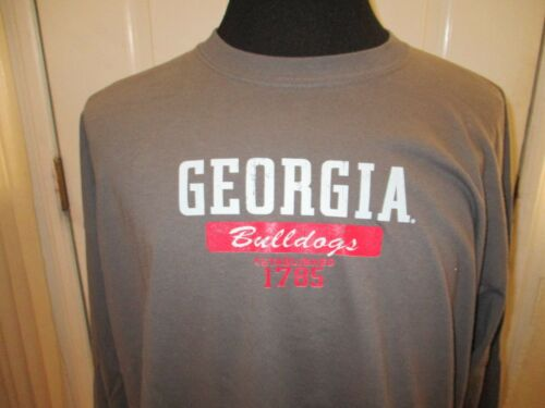 Brand New w//Tags Adult Sizes Gray Georgia Bulldogs Licensed Long Sleeve Shirt