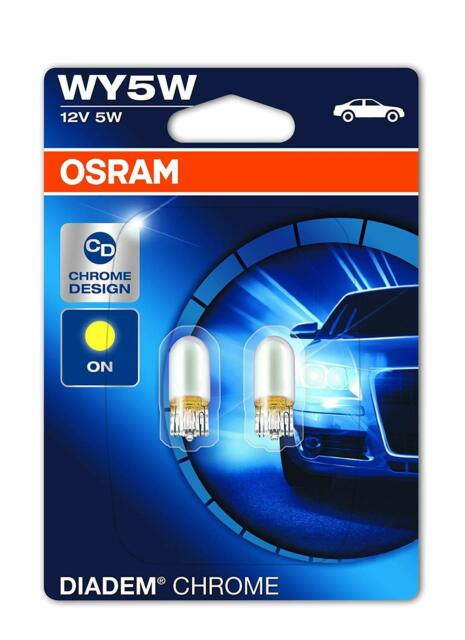 Osram Diadem Chrome Turn Signal WY5W 2827DC-02B 12V double blister