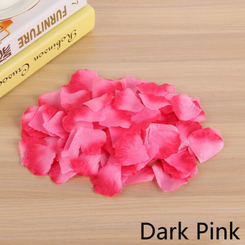200 //500//1000PCS Flowers Silk Rose Petals Wedding Party Table Confetti Decor UK