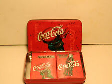 Coke metal can with 2 decks of Bicycle Playing Cards   ***NEW***