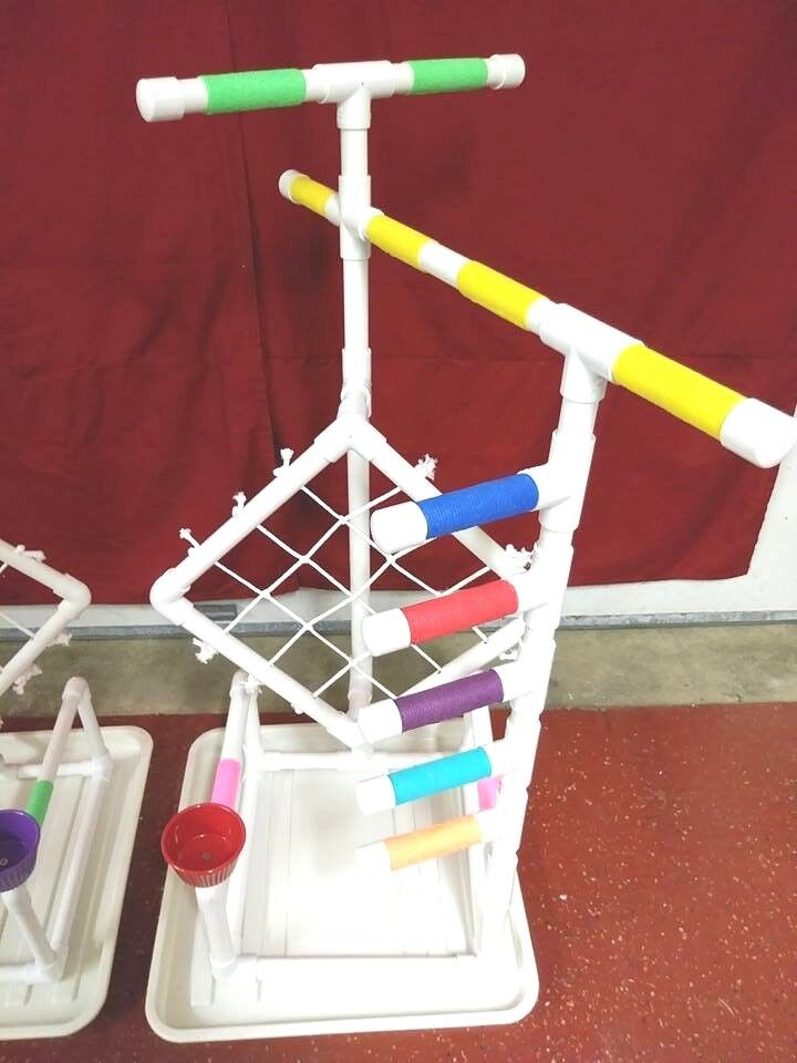 38  Tall Climber 3 4  PVC Parred Perch \ Stand \ Play Gym FREE SHIPPING