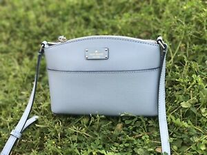 NWT-Kate-Spade-Millie-Small-Grove-Street-Crossbody-Leather-Bag-BlueDawn-WKRU4194