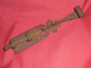 targette-ancienne-de-placard-FERRONNERIE-fer-forge-XVIIIe-ART-POPULAIRE-VOSGES