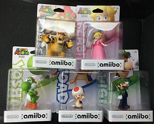 Mario Party 10 Amiibo Set 5 Figuras Sapo Melocoton Bowser