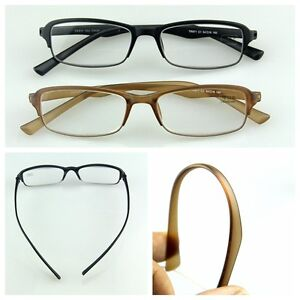 2 colors reading glasses eyeglass readers strengths easy