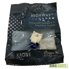 *NEW* KRONE Keystone Right Angle RJ45 Cat. 5e Outlets (P/N: 6467 1 081-40)