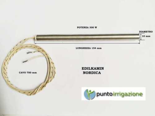 Candeletta accensione STUFA PELLET resistenza d 10 x 154 W 300 EDILKAMIN NORDICA