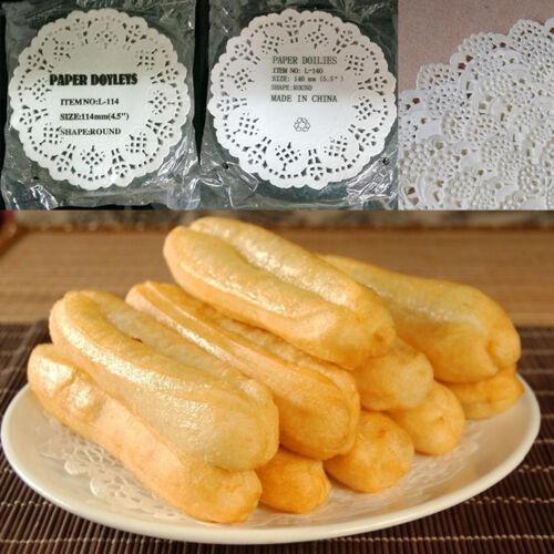 Encaje Tapete Boda Fiesta Magdalenas Pasteles Galletas Almohadillas de papel redondo placemathgu 80 un
