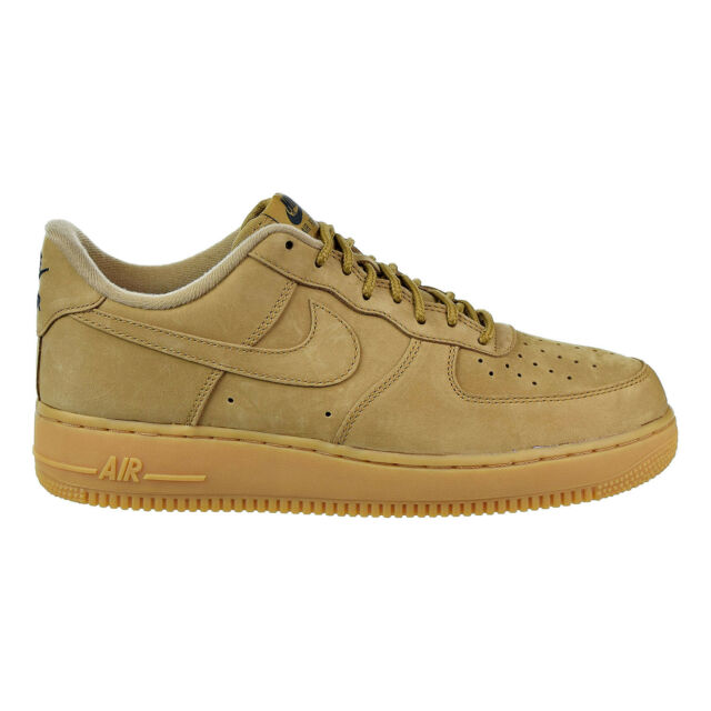 14318087a9b Nike Men s Air Force 1 Low Flax Gum Light Brown Wheat Aa4061 200 Size 10